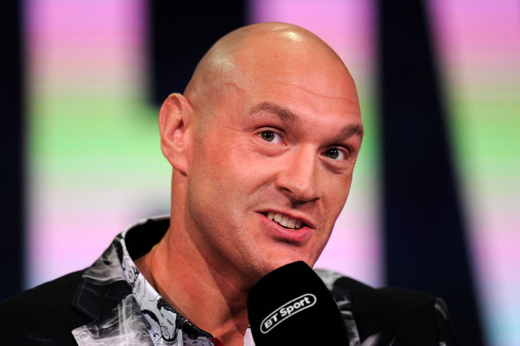 Tyson Fury at a press conference in 2019
