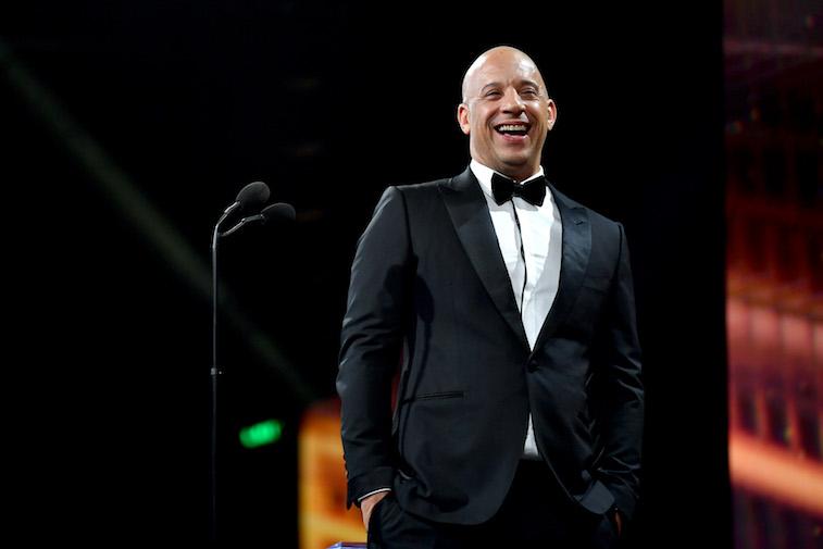 Vin Diesel speaks onstage