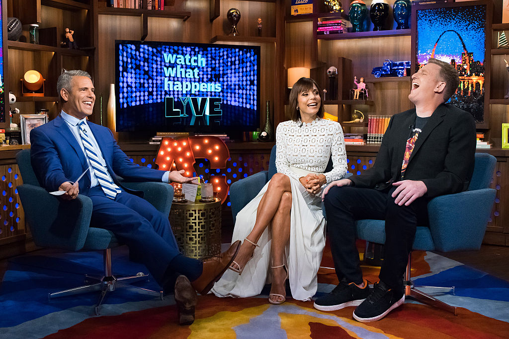 Andy Cohen, Bethenny Frankel and Michael Rapaport