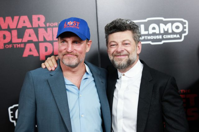 Woody Harrelson and Andy Serkis at the 'War For The Planet Of The Apes' New York premiere
