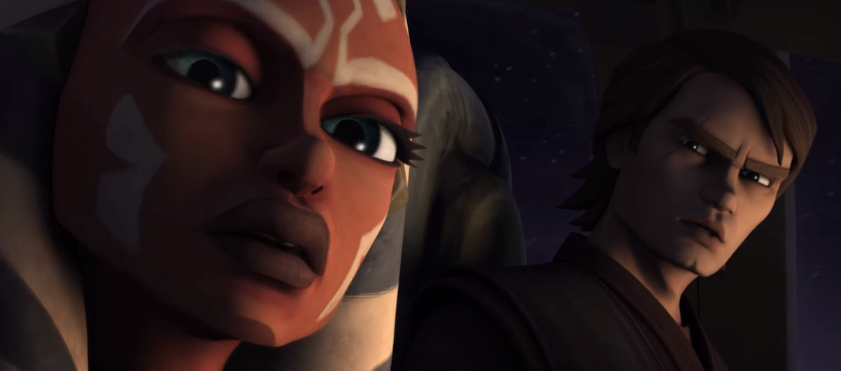 Ahsoka and Anakin on a mission to defeat Cad Bane and Rako Hardeen in 'The Clone Wars' Season 4.