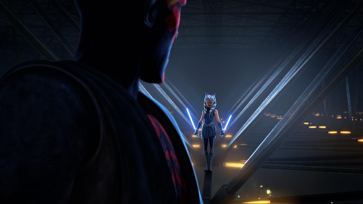 Ahsoka Tano faces off against Maul in 'The Clone Wars' Season 7.