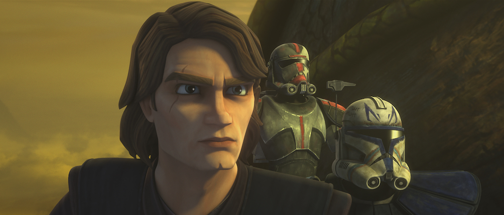 Anakin and the Bad Batch on their mission on Skako Minor.
