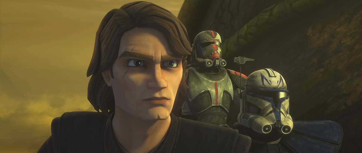 Anakin, Captain Rex, and Hunter of the Bad Batch in Episode 2 of 'The Clone Wars' Season 7.