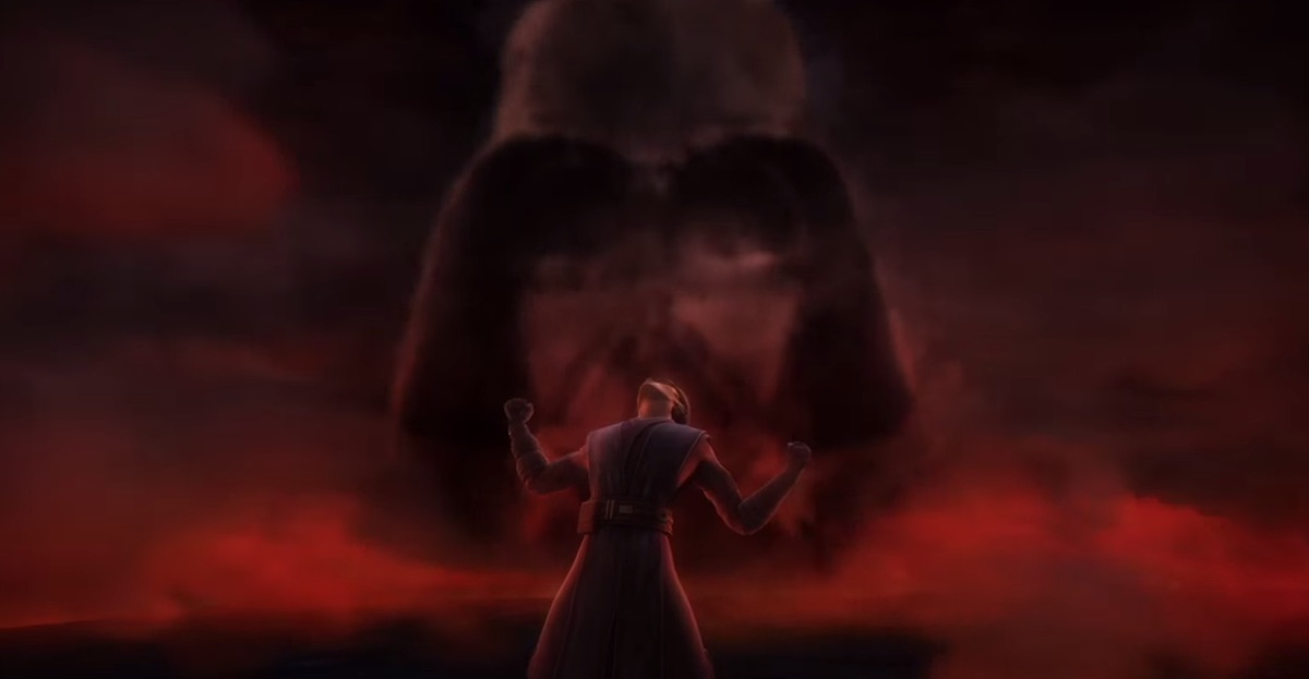 Anakin Skywalker during his vision of the future while on Mortis in Season 3 of 'The Clone Wars.'