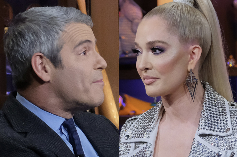 Andy Cohen and Erika Jayne