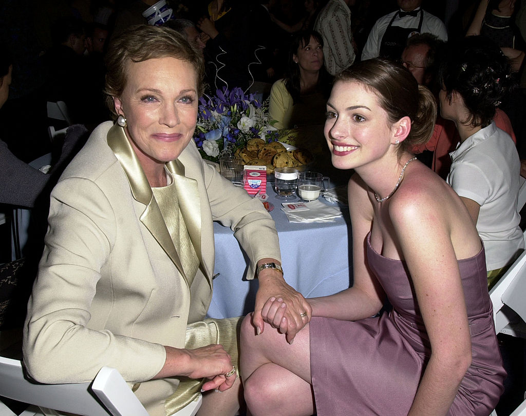 Julie Andrews and Anne Hathaway at 'The Princess Diaries Premiere' After Party.