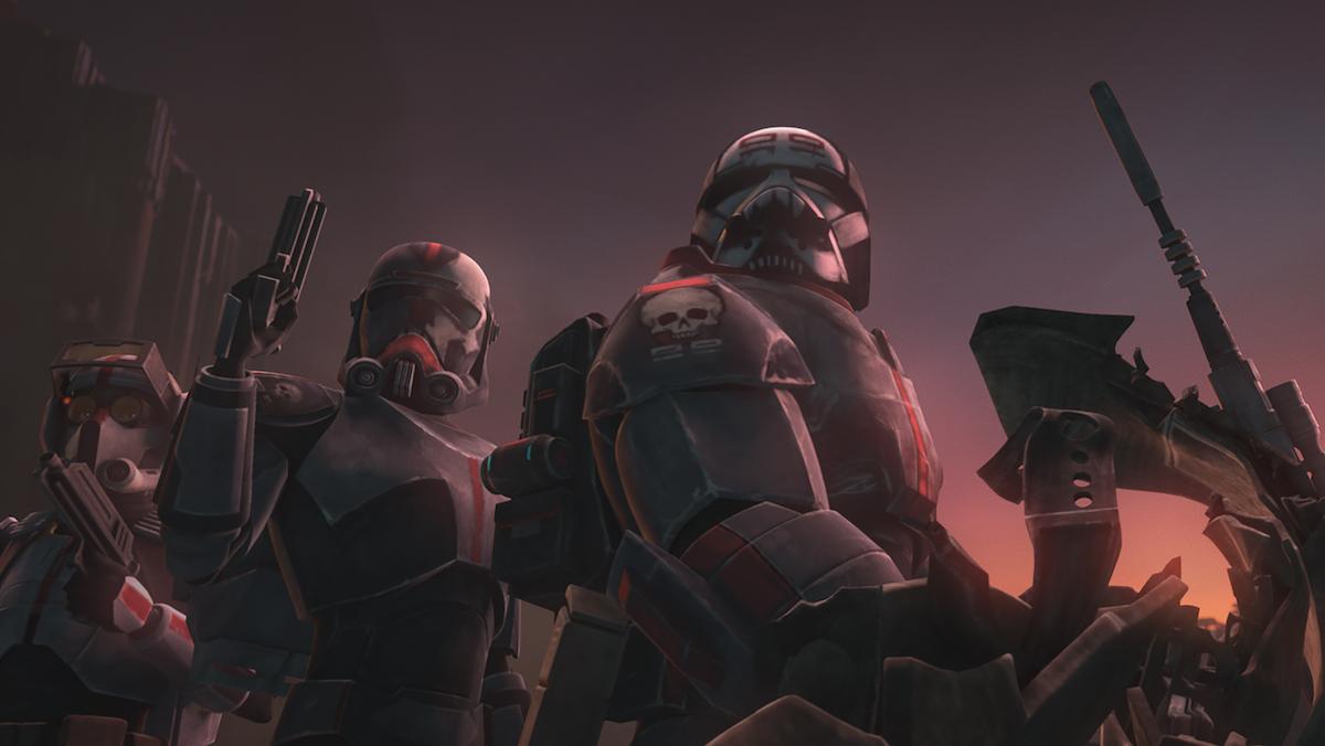 The Bad Batch in Season 7 of 'Star Wars: The Clone Wars.'