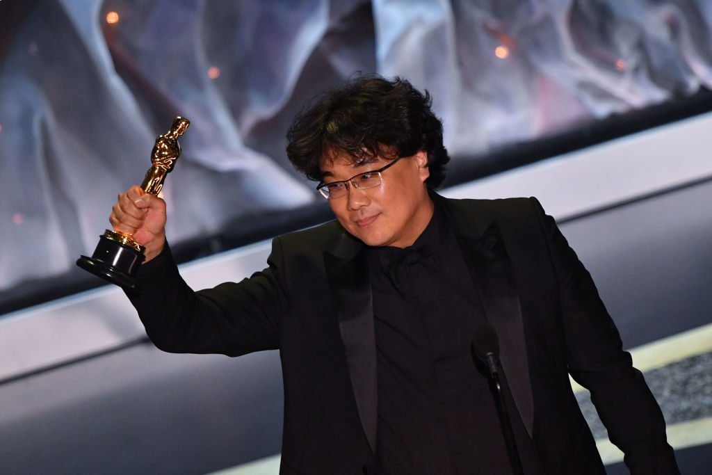 Bong Joon-ho during the 92nd Oscars