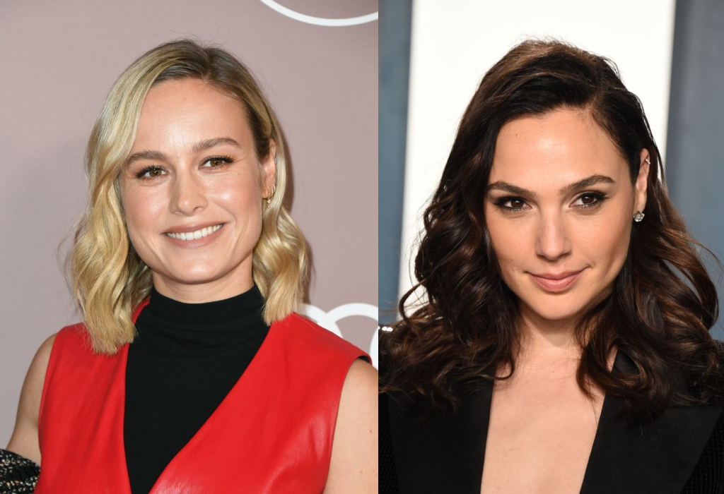 composite image of Brie Larson and Gal Gadot