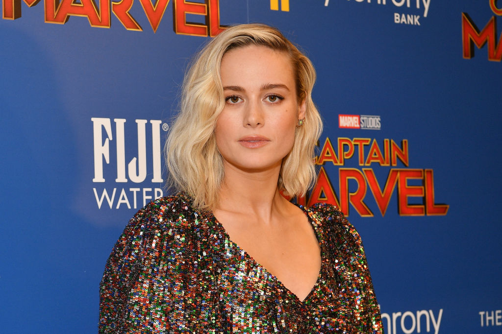 Brie Larson on the red carpet at the 'Captain Marvel' screening in New York City.