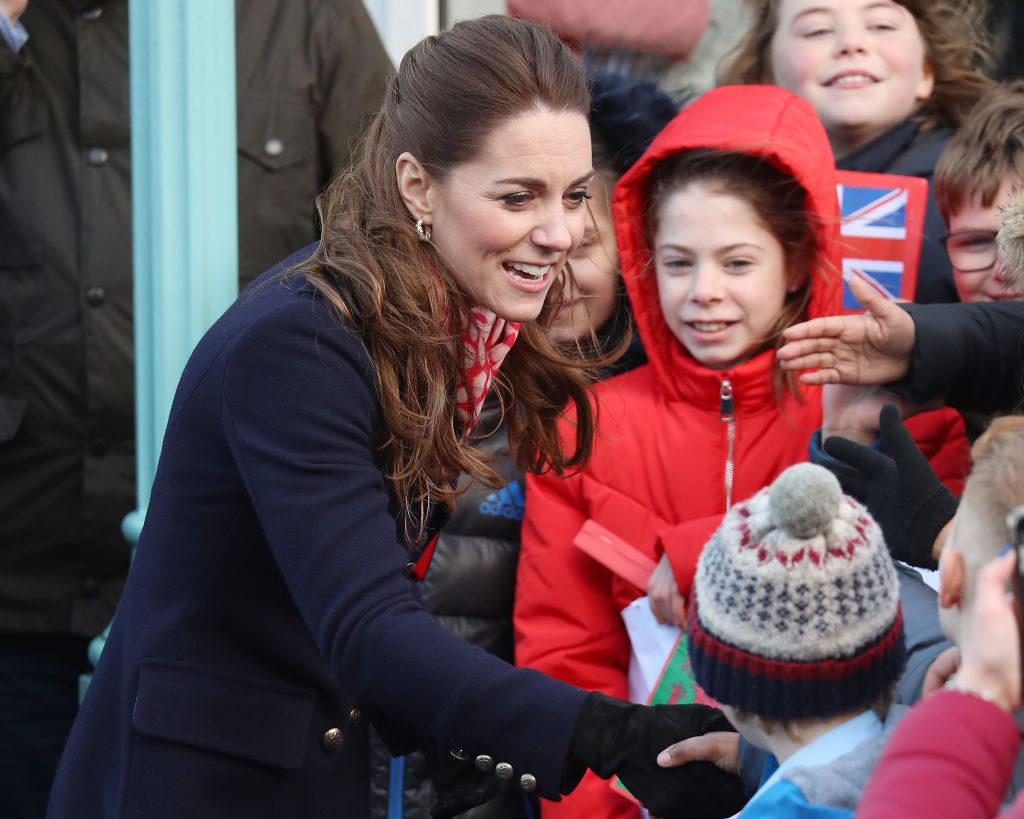 Catherine, Duchess of Cambridge visits the RNLI Mumbles Lifeboat Station