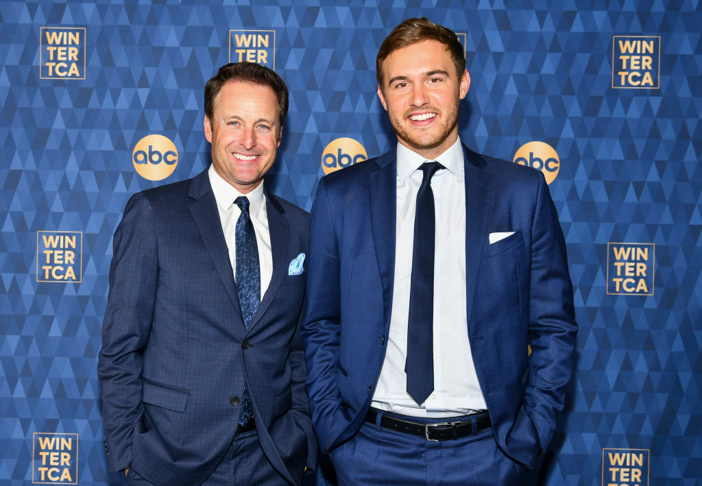 Chris Harrison and Peter Weber from 'The Bachelor' at the ABC Television's Winter Press Tour 2020.