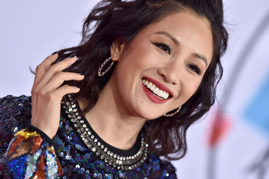 Constance Wu attends the 2018 American Music Awards.