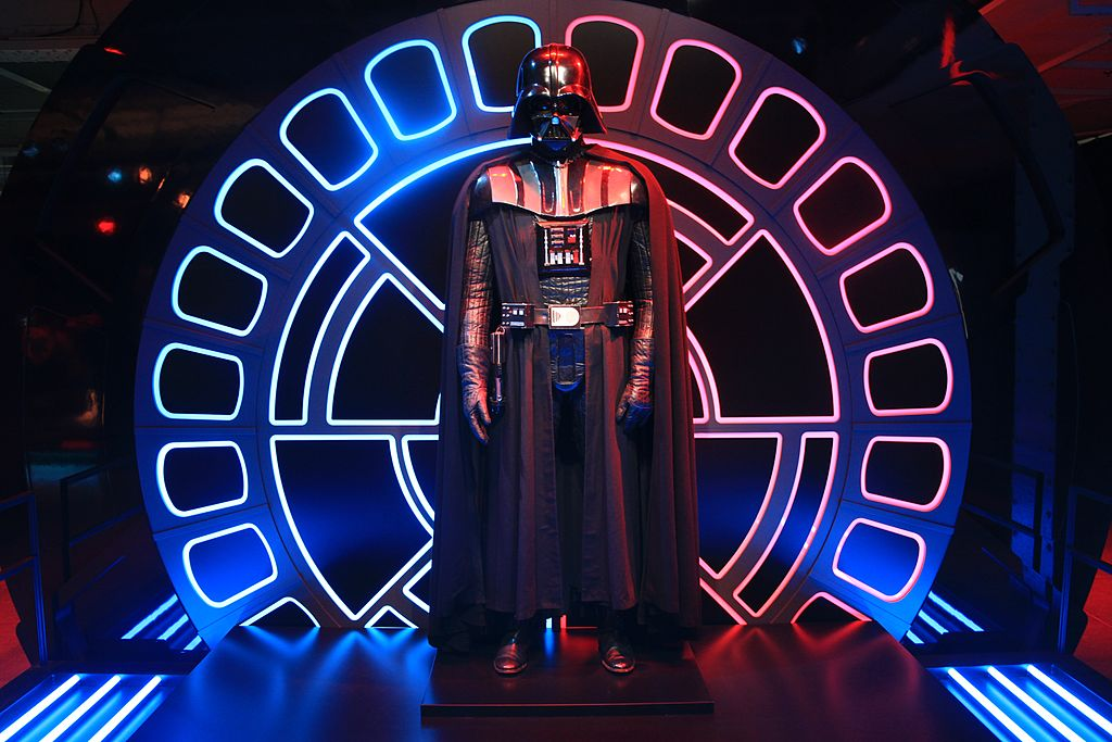 Darth Vader on display at the 'Star Wars Identities' exhibition at the Science Centre of Montreal on June 23, 2012.