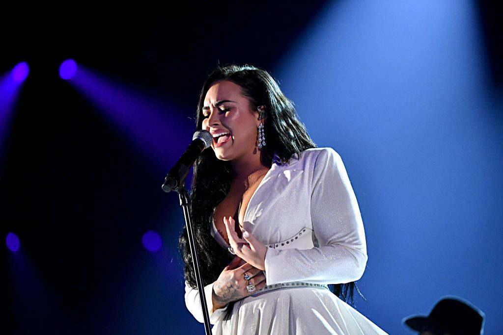 Demi Lovato performs onstage during the 62nd Annual GRAMMY Awards on January 26, 2020