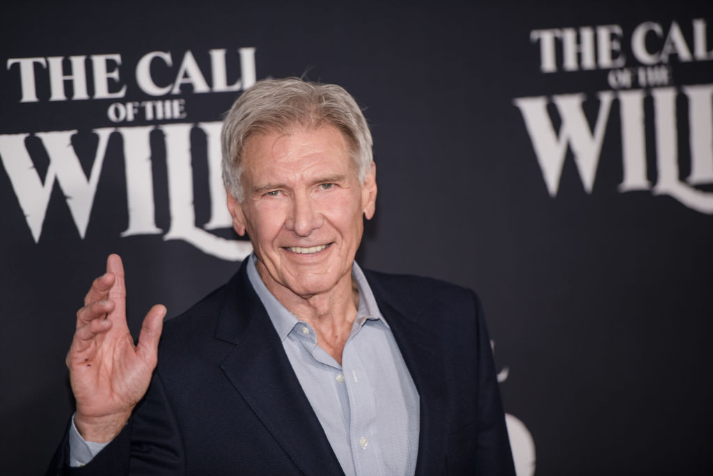 Harrison Ford at the premiere of 'The Call Of The Wild' at El Capitan Theatre on February 13, 2020.