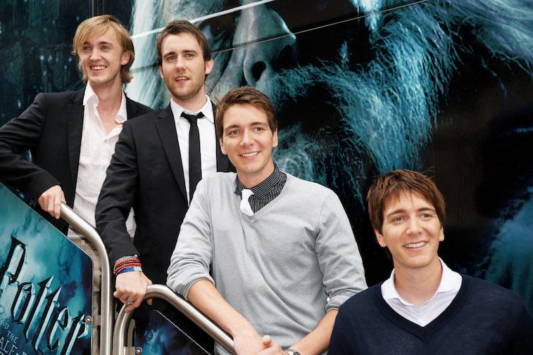 Tom Felton, Matthew Lewis, James Phelps and Oliver Phelps