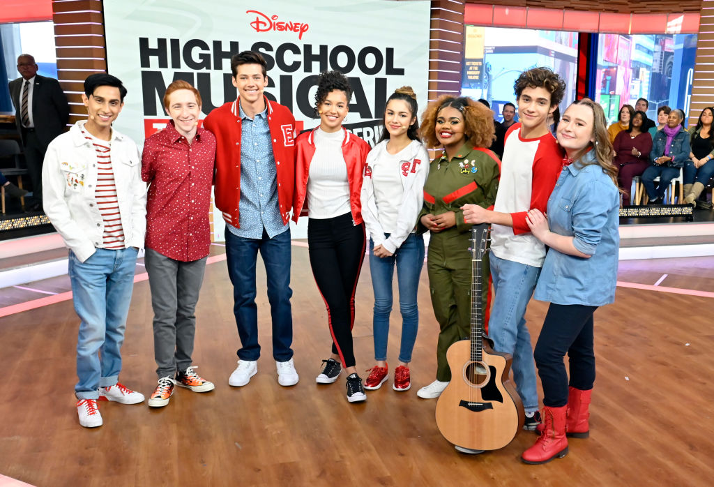 The cast of the Disney+ series 'High School Musical: The Musical: The Series' at Good Morning America before the show's premiere.