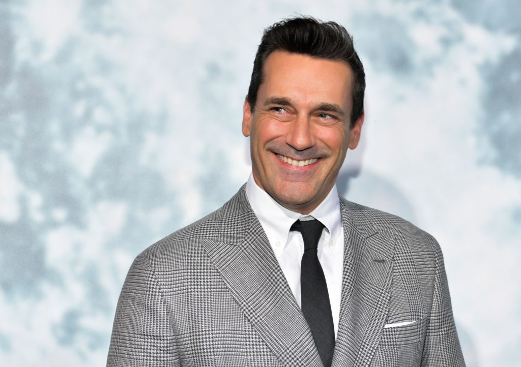 "Jon Hamm attends the premiere of FOX's ""Lucy In The Sky"" at Darryl Zanuck Theater at FOX Studios on September 25, 2019 in Los Angeles, California."