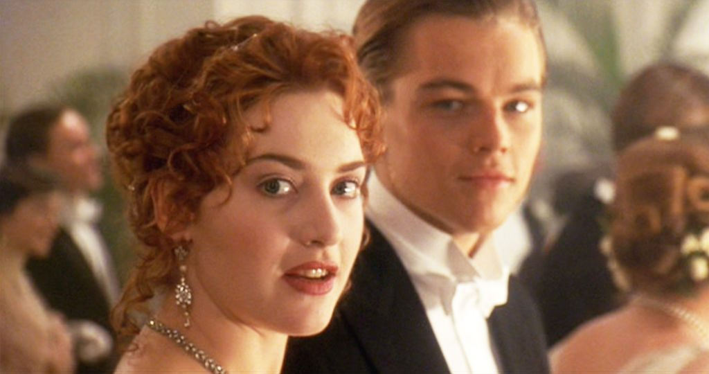 Kate Winslet as Rose and Leonardo DiCaprio as Jack in 'Titanic'