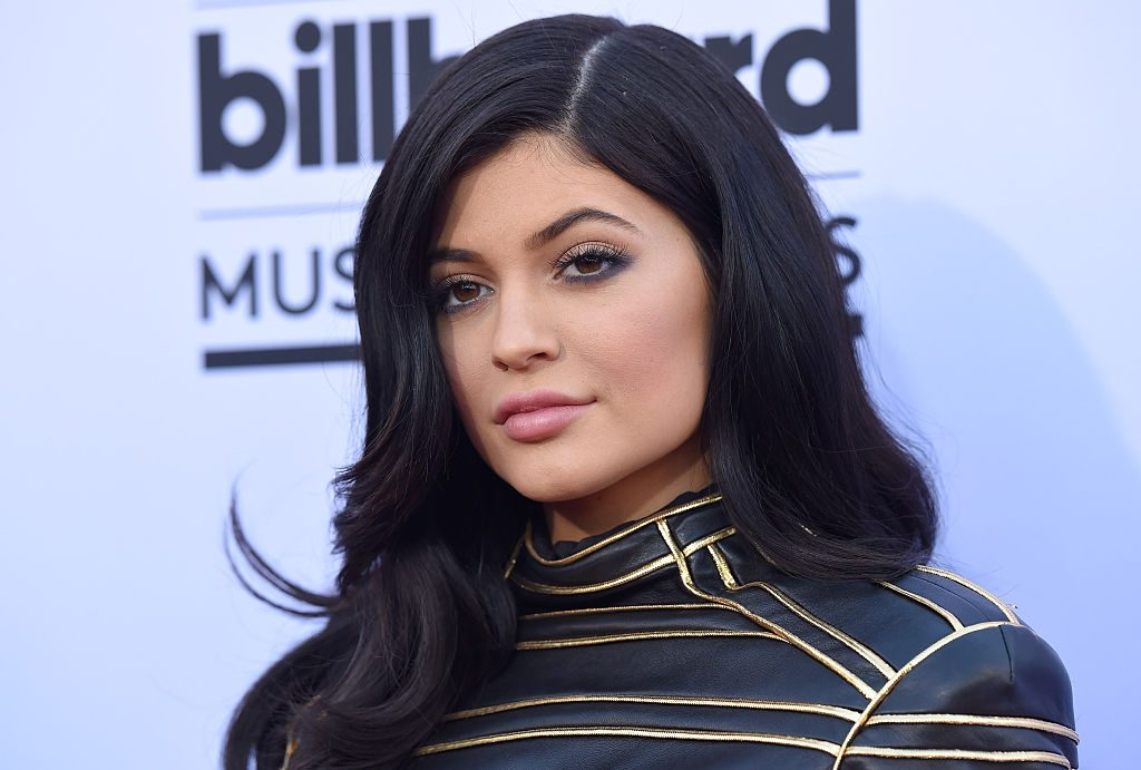 Kylie Jenner arrives at the 2015 Billboard Music Awards at MGM Garden Arena.