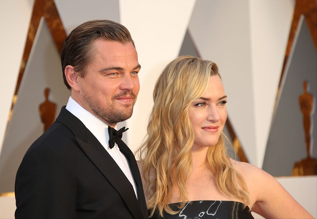 Leonardo DiCaprio and Kate Winslet at the 88th Annual Academy Awards on February 28, 201