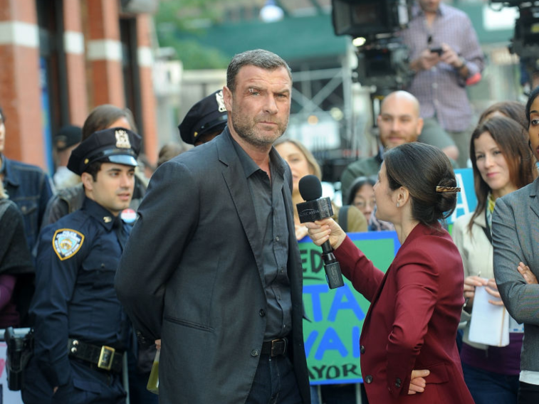 Liev Schreiber on set of 'Ray Donovan'