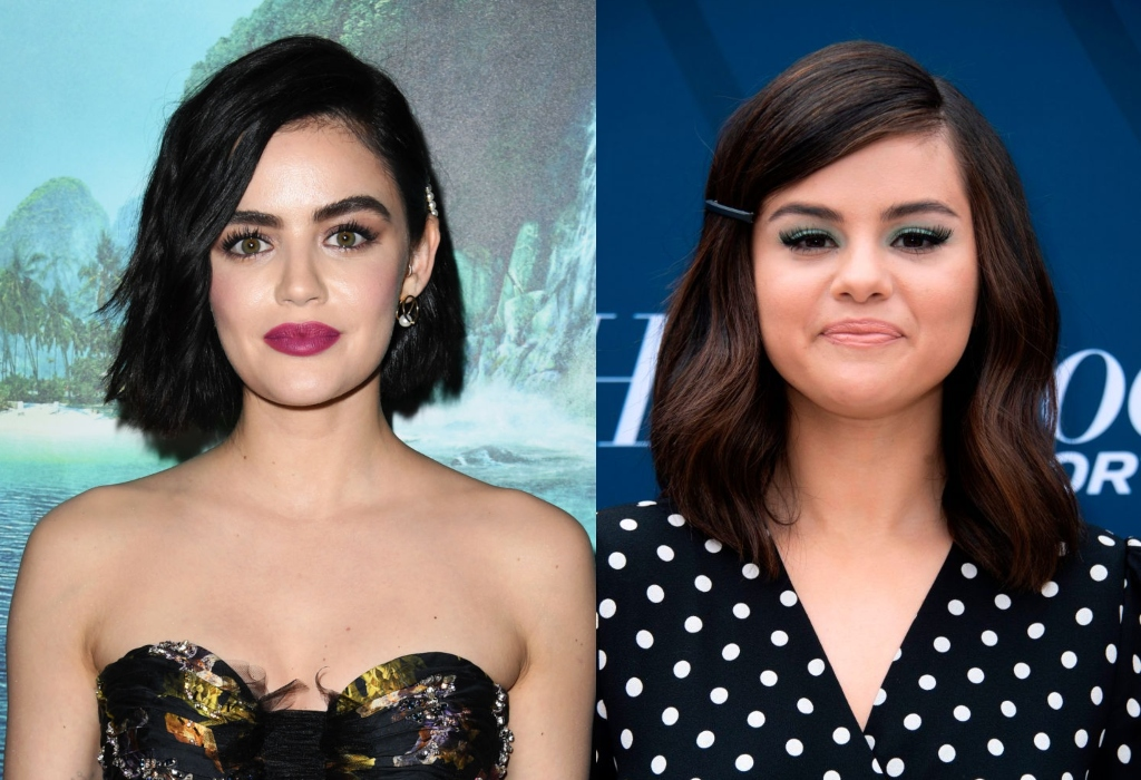 composite image of Lucy Hale and Selena Gomez