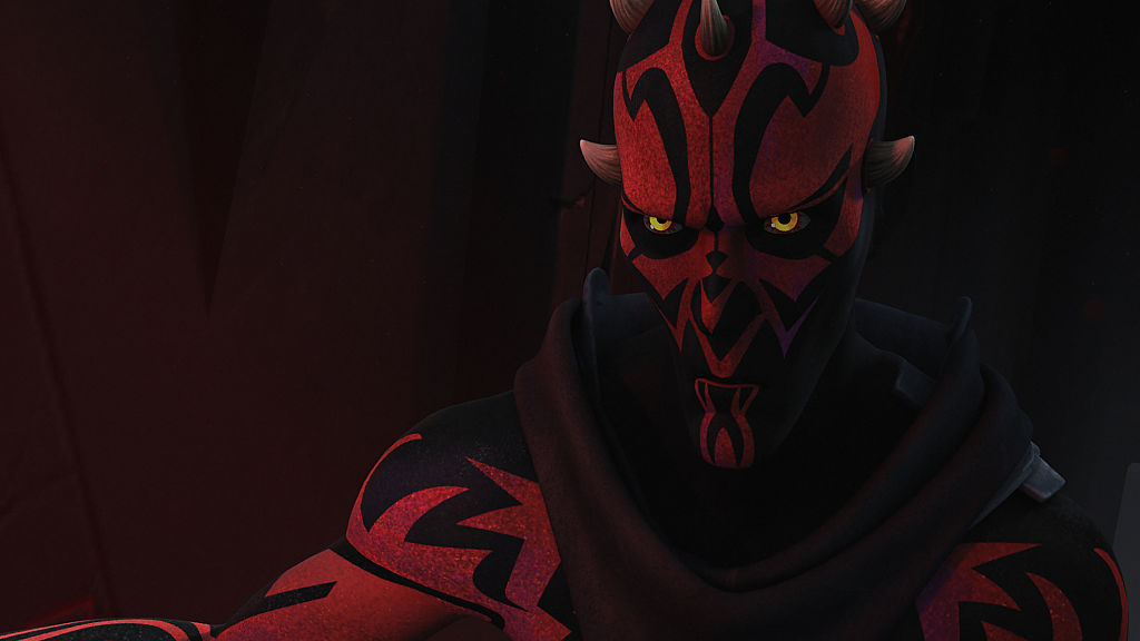 "Maul in Episode ""Twilight of the Apprentice: Part I and II"" in 'Star Wars Rebels,' which takes places years after 'The Clone Wars.'"