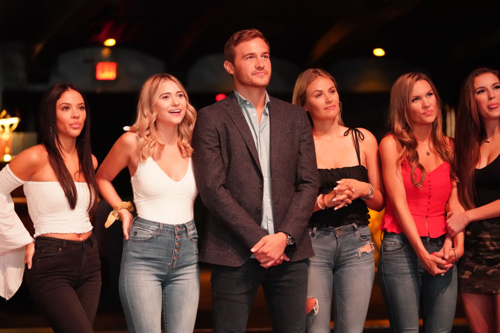 Peter Weber with his contestants on 'The Bachelor.'