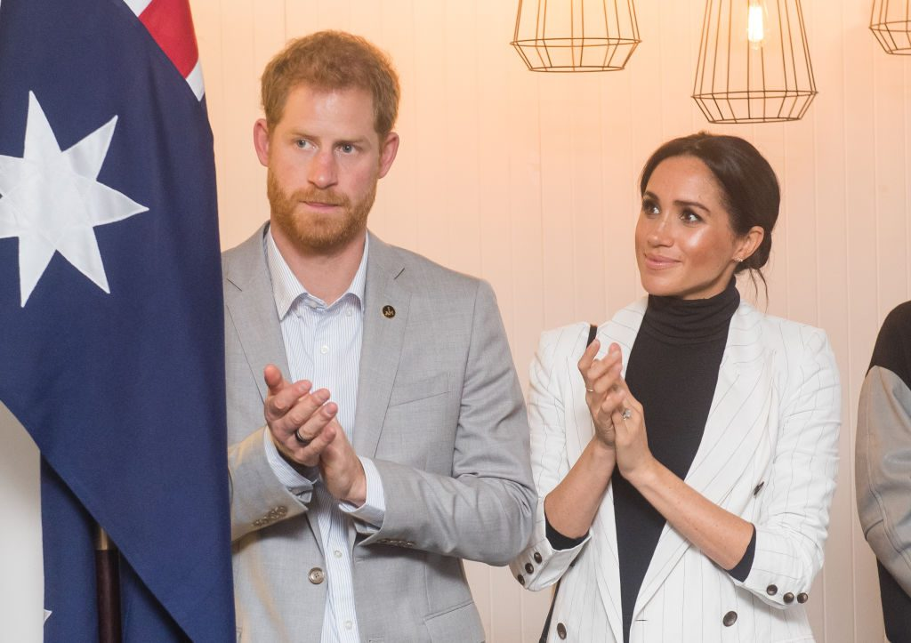 Prince Harry and Meghan Markle attend a reception hosted by the Prime Minister of Australia