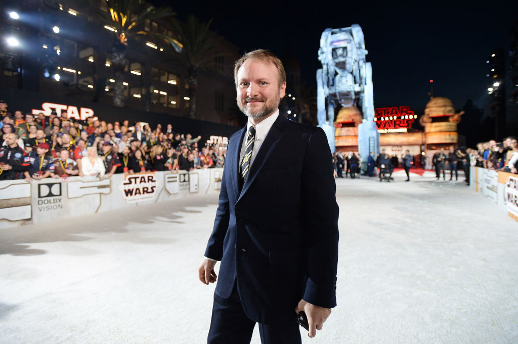 Director Rian Johnson at the world premiere of 'Star Wars: The Last Jedi' at The Shrine Auditorium on December 9, 2017.