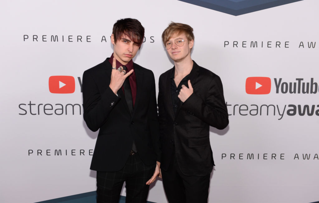 YouTube vloggers Sam Golbach and Colby Brock