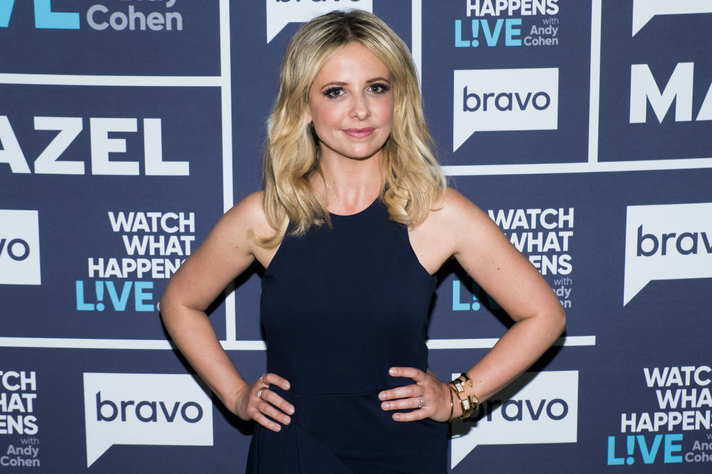 Sarah Michelle Gellar on the red carpet for 'Watch What Happens Live' Season 14 .