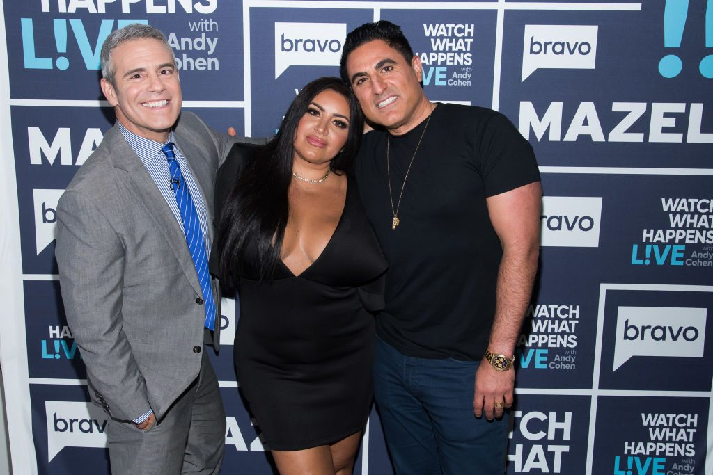 Andy Cohen of WWHL, Mercedes MJ Javid, and Reza Farahan of Shahs of Sunset