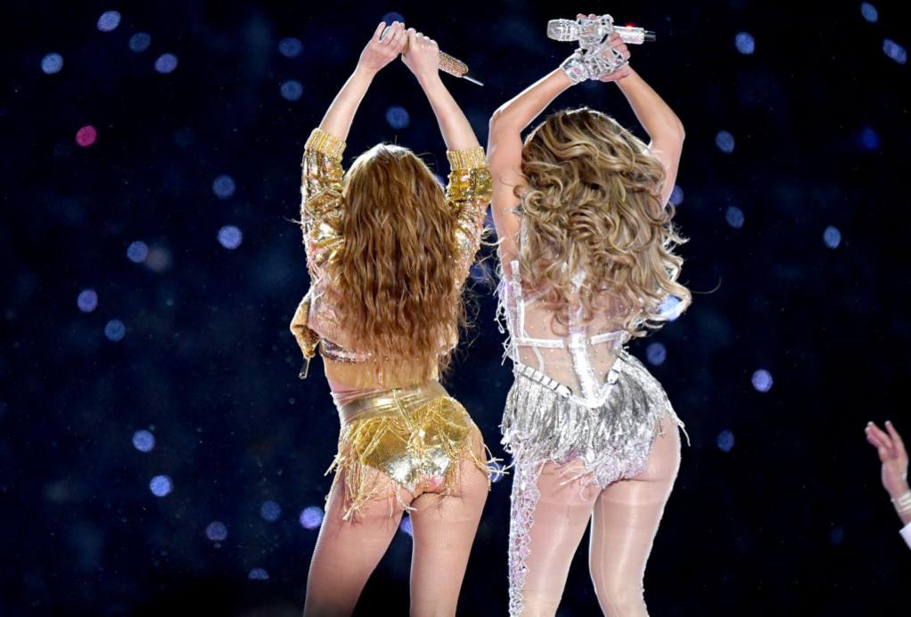 Shakira and Jennifer Lopez perform at Super Bowl halftime show, 2020