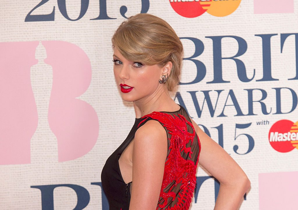Taylor Swift at the BRIT Awards 2015 on Feb. 25, 2015 in London, England.