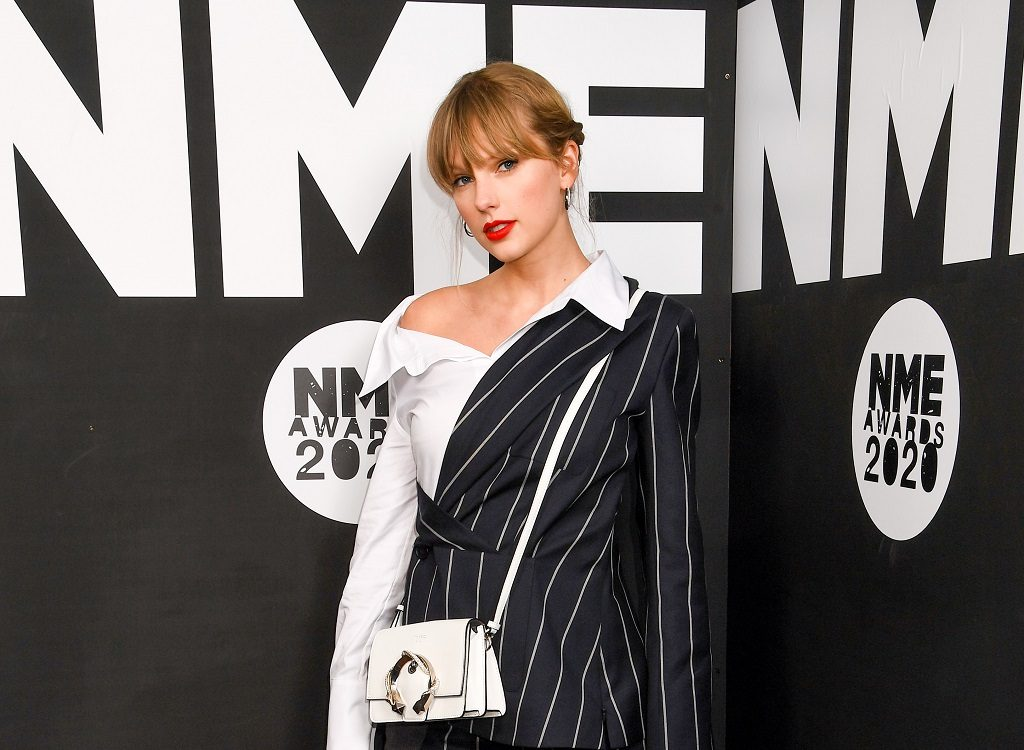 Taylor Swift attends the NME Awards 2020 on February 12, 2020 in London, England.