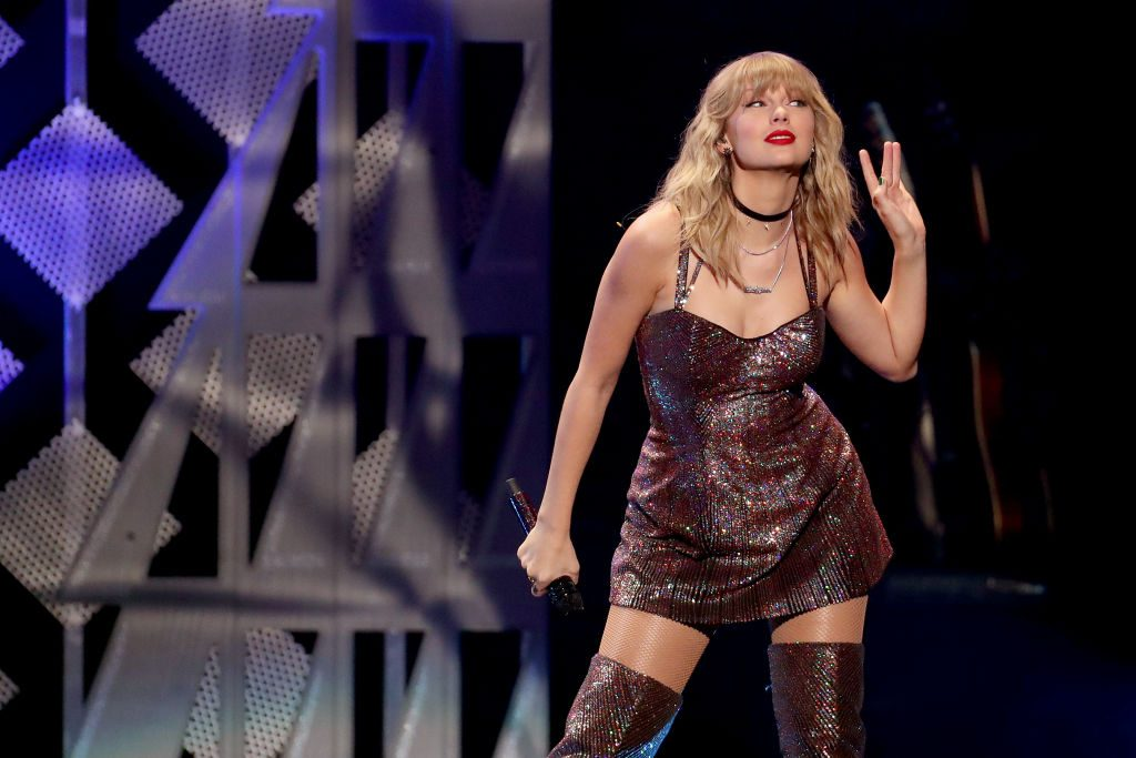 Taylor Swift performs onstage during iHeartRadio's Z100 Jingle Ball 2019 on December 13, 2019 in New York City.