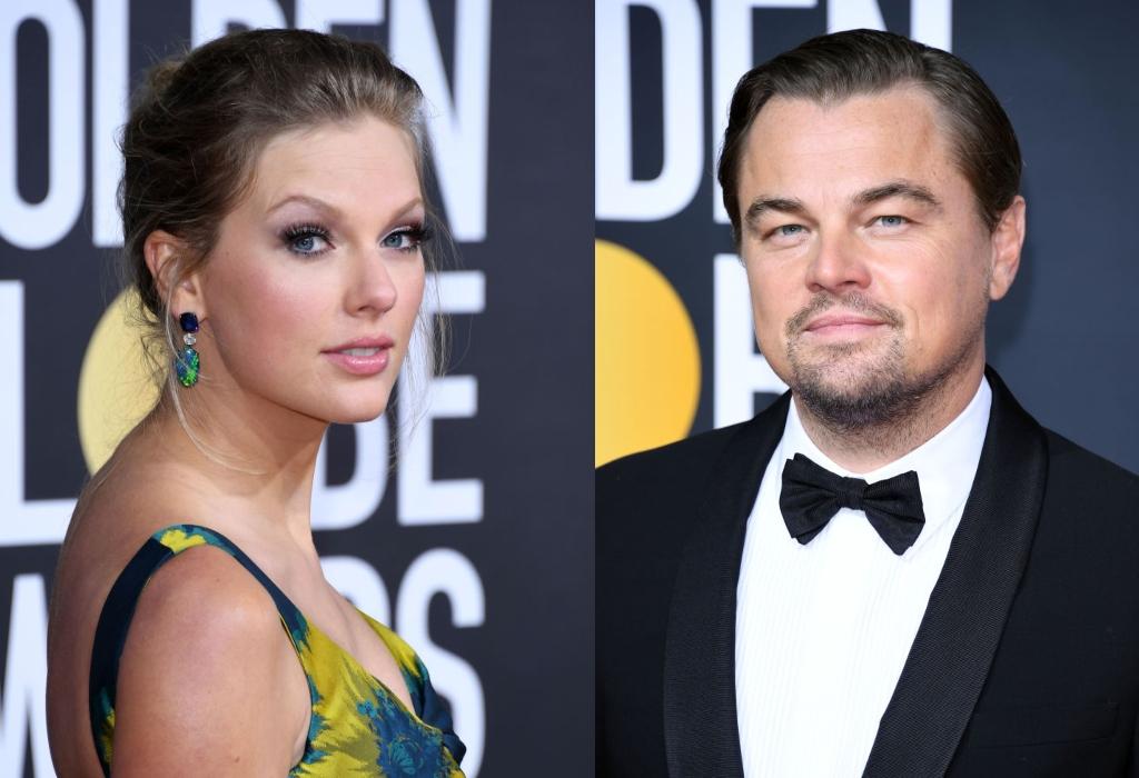 composite image of Taylor Swift and Leonardo DiCaprio