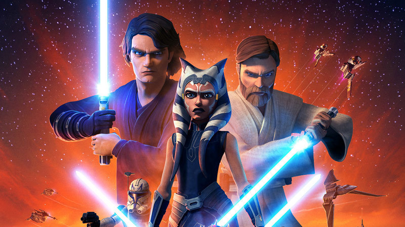 Anakin Skywalker, Ahsoka, Obi-Wan Kenobi on the new poster for 'The Clone Wars' Season 7.