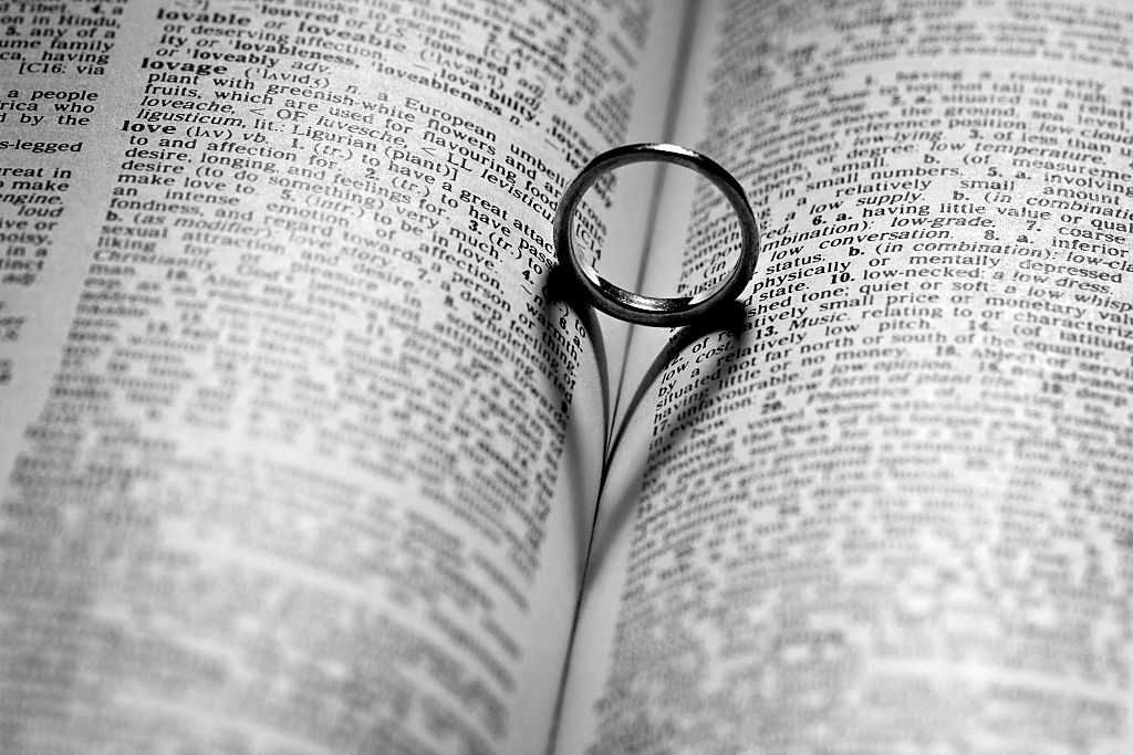 Wedding ring in dictionary