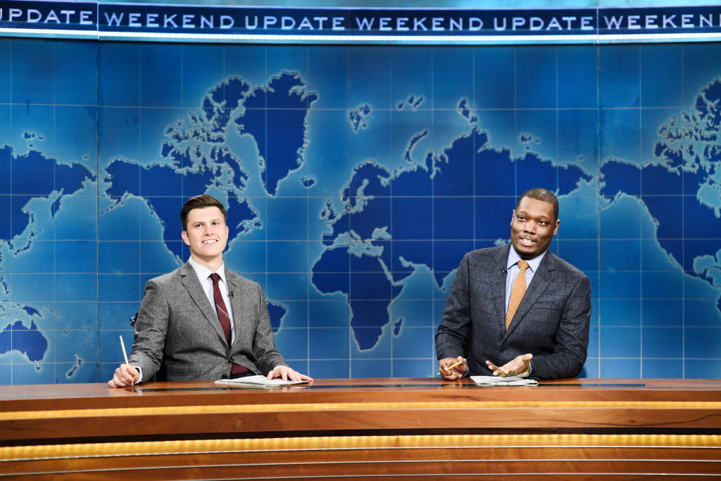 """""""Saturday Night LIve's"""" Colin Jost and Michael Che on """"Weekend Update"""""""