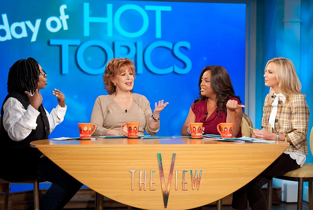 "Whoopi Goldberg, Joy Behar, Sherri Shepherd, and Elisabeth Hasselbeck of ""The View"""