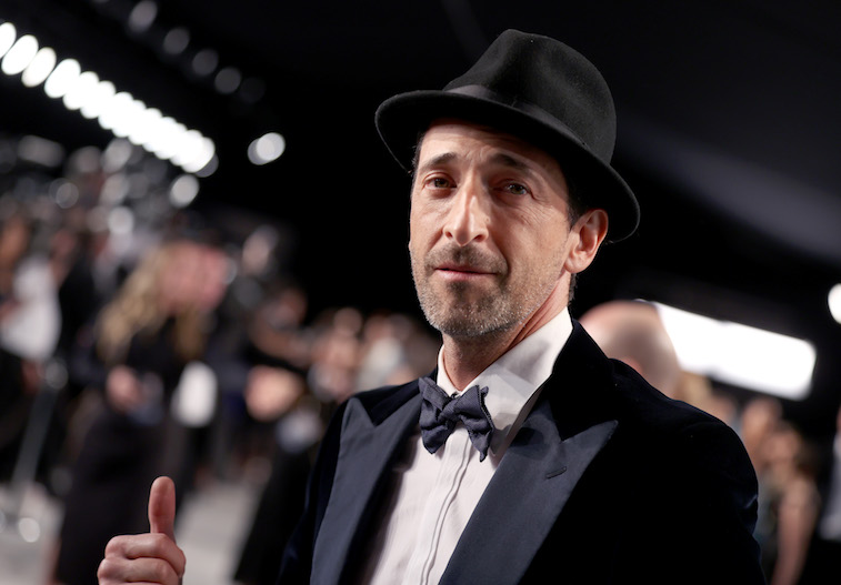 Adrien Brody on the red carpet