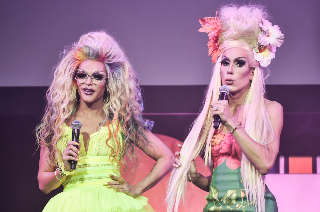 "Alaska Thunderfuck and Willam Belli perform after a screening of ""Wig"""