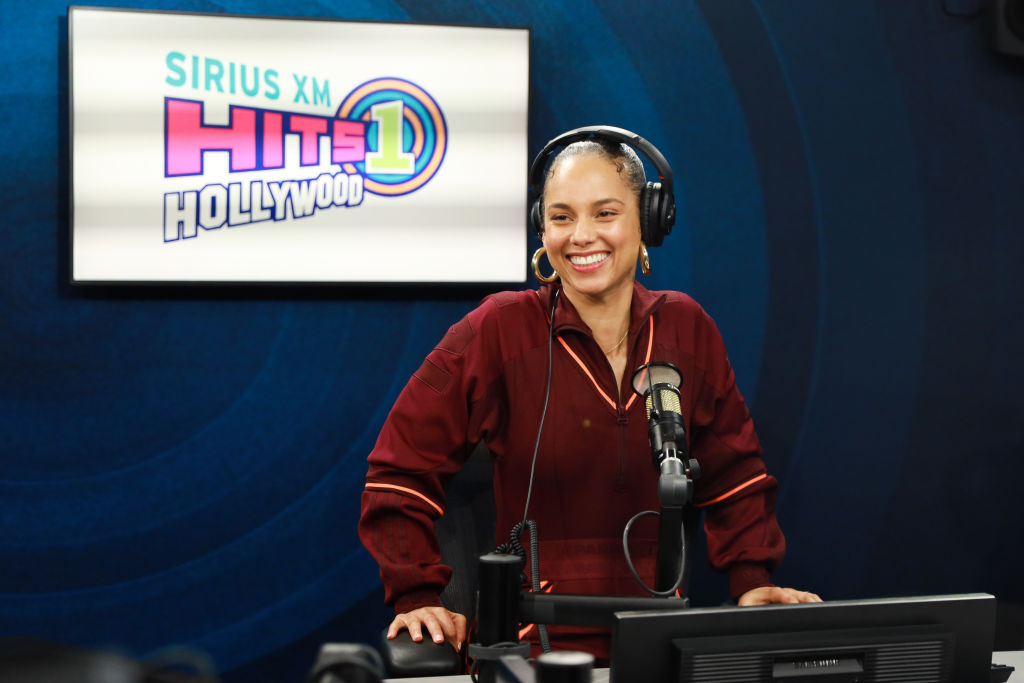 Alicia Keys visits the SiriusXM Hollywood Studio on January 22, 2020 | Rich Fury/Getty Images