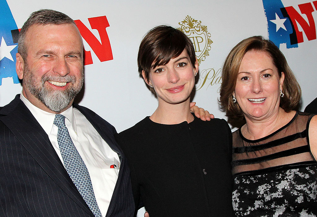 Anne Hathaway and parents