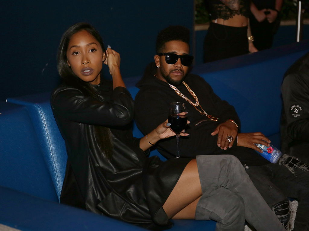 Apryl Jones and Omarion in 2015